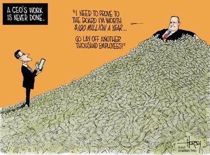 Shameful CEO salaries