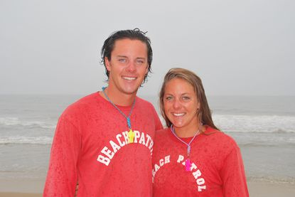 Colin and Shelby Stang of Columbia are serving as lifeguards for Ocean City this summer with four of their cousins.