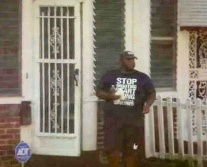 Ronald Alexander, 51, a former Safe Streets worker shown here leaving his home in June 2020 with suspected drugs and wearing a Safe Streets T-shirt, pleaded guilty to federal drug conspiracy charges and will be sentenced to 11-13 years in prison.