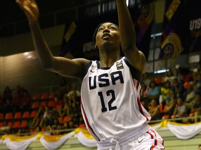 Maryland freshman Diamond Miller played for the United States U19 World Cup team over the summer.