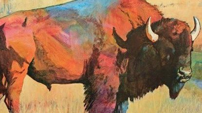 "The Meeting House Gallery exhibit titled ""Friends"" includes ""Buffalo in Field"" by Julia Smith."
