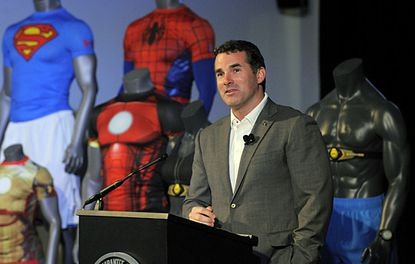 Under Armour founder and CEO Kevin Plank speaks at the Under Armour shareholders meeting at the companies headquarters in Locust Point.