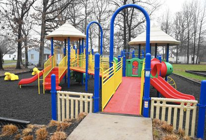 The new playground equipment at Victory Street Park in Aberdeen is ready for use nearly four months after four juveniles intentionally set a fire that destroyed the former playground.