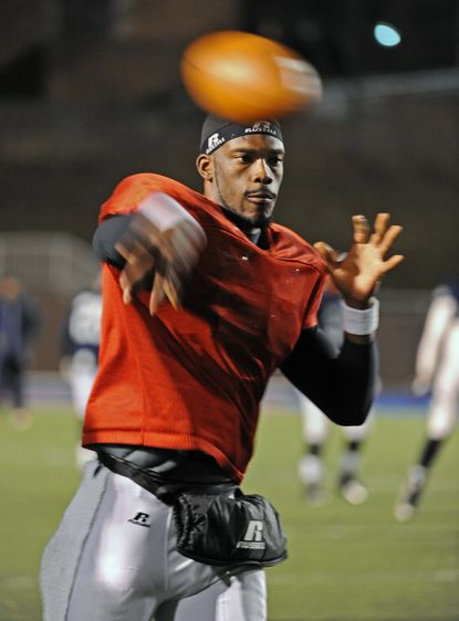 Morgan State quarterback Moses Skillon throws in practice last fall. Skillon heads into this season as the team's No. 1 QB, but coach Lee Hull cautions that every team needs two good ones.