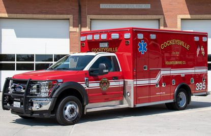 The Cockeysville Volunteer Fire Company, which was founded nearly 125 years ago, now have seven pieces of apparatus, including a new ambulance, Medic Unit 395, which was dedicated in May.