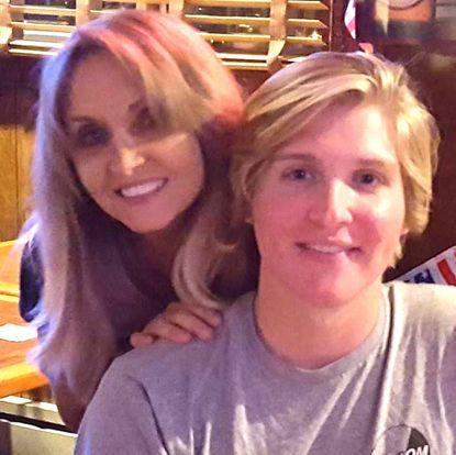 Lisa Shanahan, 50, and son Colin Hambrook, 19.