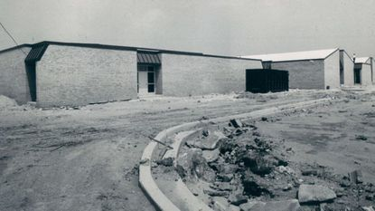 Talbott Springs Elementary, shown as construction was being wrapped up in September, 1973. Work fell behind and the school's opening date was pushed back by three months. The state is refusing the county's request for funds to replace the aging building.