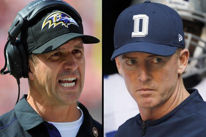 Harbaugh vs. Garrett coaching decision worked out well for Ravens
