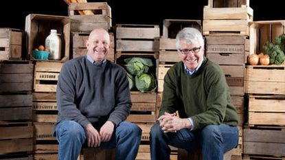 Philip Gottwals and Tim Hosking, co-founders of Friends & Farms, in their Gerwig Lane facility.
