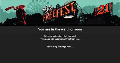 Plenty of local music fans stared at this screen today, hoping to secure free passes to Virgin Mobile FreeFest.
