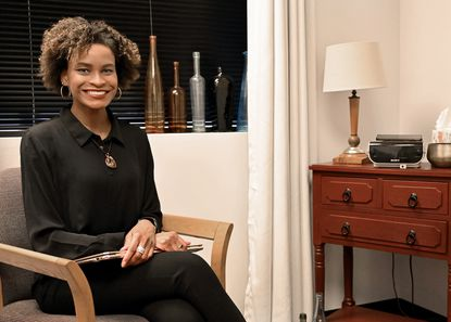 Kiara Hartwell, runs a one-person counseling service in Catonsville, KJ Hartwell, LLC. She said that early in the pandemic some clients were hesitant about virtual therapy sessions, but the reluctance wore off.