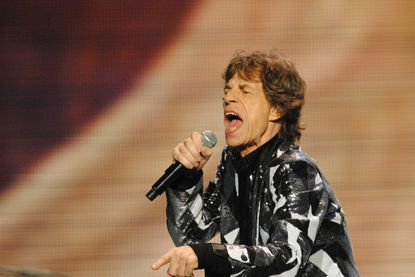 Mick Jagger of The Rolling Stones sings at Philadelphia's Wells Fargo Center earlier this month.