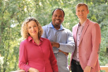 Members of Poulenc Trio, from left, Irina Kaplan Lande, piano; Bryan Young, bassoon; and Alexander Vvedenskiy, oboe.