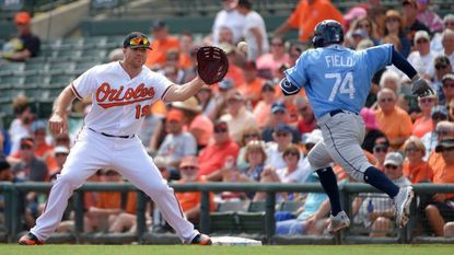 Chris Davis has been playing through elbow soreness during the early part of the exhibition season, but will be shut down for three to five days after MRI shows no structural damage.