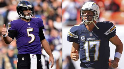 Ravens quarterback Joe Flacco and San Diego Chargers quarterback Philip Rivers have the third-and-fourth longest consecutive games streak in the NFL.