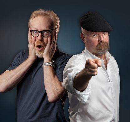 "Adam Savage, left, and Jamie Hyneman of Discovery Channel's ""MythBusters"" come to Baltimore Saturday on their live tour."