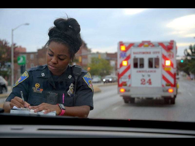 On patrol in Baltimore: 'There would be a lot less order if