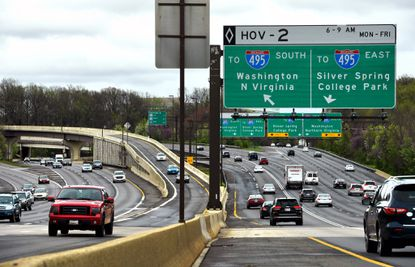Traffic along interchanges that link the Capital Beltway and Interstate 270 in Bethesda. File. (Katherine Frey/Washington Post).