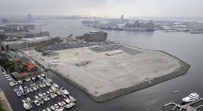 Site of the proposed Harbor Point development in Baltimore.