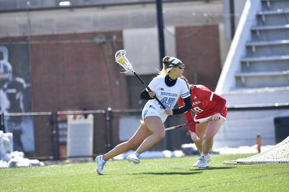 Aurora Cordingley leads the Johns Hopkins offense in goals with 35 and points with 48.