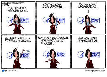 Cartoon by Michael Ramirez for Aug. 9, 2021.