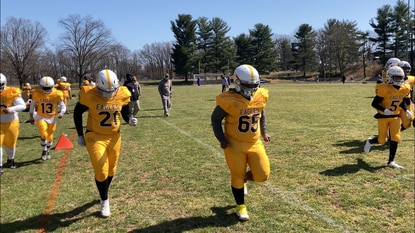Owings Mills defeated Pikesville 44-0 on Saturday.