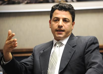 Republican primary election for State Delagate for District 33 candidate Sid Saab. Political candidates for the coming elections visit The Capital for a meeting with the paper. (Photo by Shannon Lee Zirkle - The Capital) 8/12/10