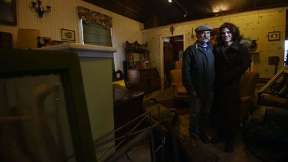 Rebecca Hair, owner of Sand Hill Antiques & Refinishing, and her fiance, Steven Ryder, say there are several ghosts in the building where the business is housed. A segment for the pilot of a television show about ghosts has been shot at the shop.