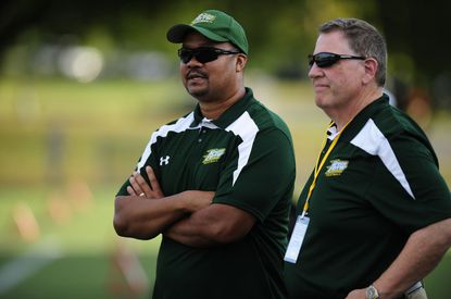 McDaniel College assistant coach Tony Vinson, left, played football at Towson University.McDaniel College assistant coach Tony Vinson, left, played football at Towson University and is ready to watch the Tigers take on North Dakota State in the NCAA FCS national championship game Saturday.