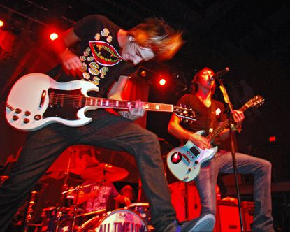 Jack Barakat performs with his band All Time Low at Rams Head in 2007.