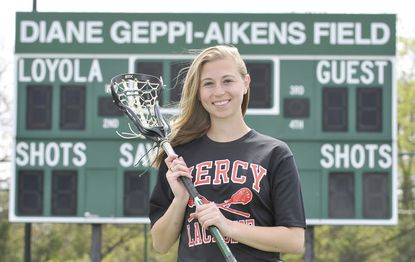 After growing up with lacrosse, Mercy's Shannon Aikens following in her late mother's footsteps