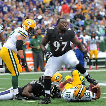 Ravens defensive end Arthur Jones is showcasing his skill at the right time