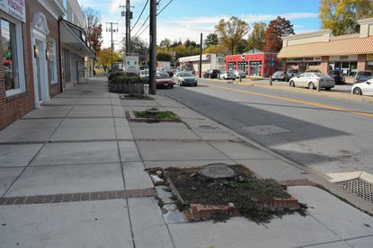 The removal of sidewalk planters along Frederick Road in Paradise is part of a streetscape project along the corridor that Baltimore County Executive Kevin Kamenetz has asked the state to fund.
