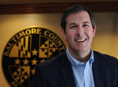 Baltimore County Executive Johnny Olszewski Jr. is speaking at the graduate school commencement at UMBC on May 22.