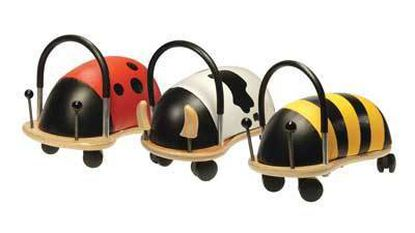 Wheely bug toys are popular this season and sold at Tiny Toes on Main Street in Bel Air.