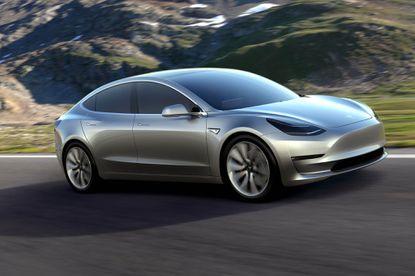 The Tesla Model 3 electric car.