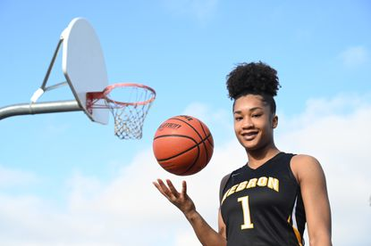 Mt. Hebron senior guard Satori Valentine is the 2019-20 Howard County girls basketball Player of the Year. She is one of the few athletes in Howard County history to win the top honor in multiple sports, as she was the Howard County outdoor track and field Runner of the Year last season.