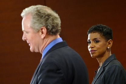 Baltimore,MD-3/25/16 -- Democratic Senate debate between Donna Edwards and Chris Van Hollen held at the University of Baltimoreâ¿¿s Learning Commons. Lloyd Fox/Staff #0677