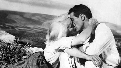 "Eva Marie Saint and Paul Newman in the 1960 film ""Exodus."""