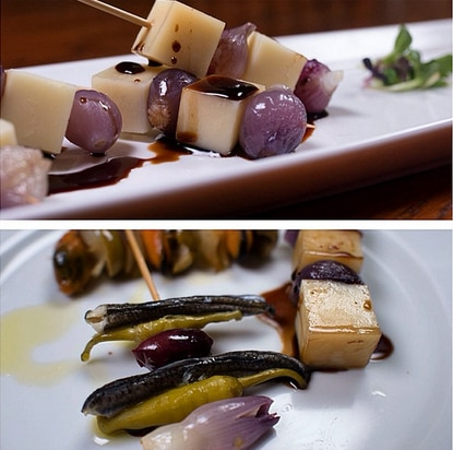 An example of the pintxos that new restaurant La Cuchara plans to serve.
