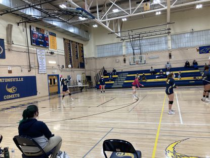 Perry Hall's Andreah Evans had four aces for the Gators, who defeated Catonsville in four sets in the first match of the season for both teams.