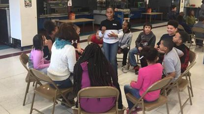 Fourth graders study conflict resolution at Hall's Cross Roads Elementary School in Aberdeen under a new joint program announced by Harford County governmnt and Harford County Public Schools.