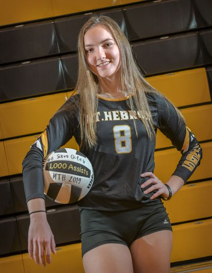 Mt. Hebron senior setter Sam Giles is the 2019 Howard County volleyball Player of the Year.