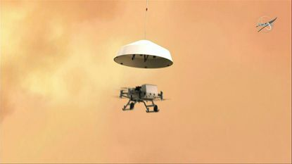 NASA announced Thursday that it's is sending a drone called Dragonfly to explore Saturn's largest moon Titan. Using propellers, the spacecraft will fly from location to location on the icy moon to study whether it can support microbial life.