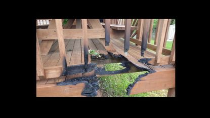 Results of a May 1 deck fire on Reaverton Avenue in Taneytown.