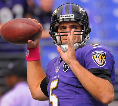 Joe Flacco's ability to throw the ball fast, firm and far is more than just arm strength. Throwing power originates from the ground, and muscles from the toes to the fingertips are used.