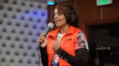 Then-Baltimore City mayoral candidate Sheila Dixon, who was running a write-in campaign, speaks to her supporters at her headquarter at the Oxygen Lounge in 2016. Her campaign says a post on her Facebook alluding to a 2020 run was the result of hacking.