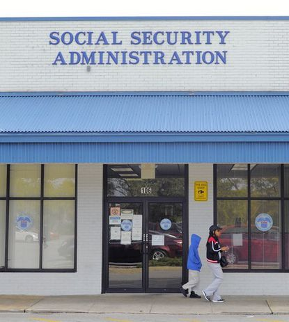 The Social Security office at Belair-Edison Crossing Shopping Center. Social Security Administration employees and advocates for benificiaries are objecting to plans to reduce office hours nationwide beginning next month.