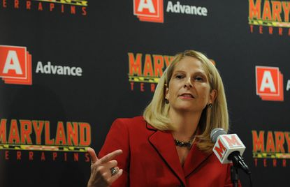 Coach Brenda Frese and the Terps open Big Ten Conference play Monday night against Ohio State.