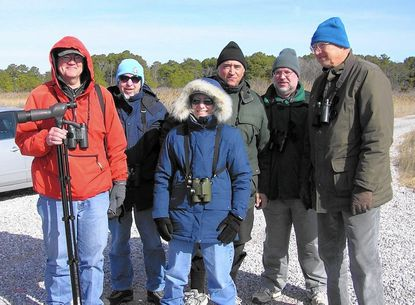 Pictured on one of the Carroll County Bird Club's Presidents Day Weekend field trips are, from left: Don Jewell, Dave Harvey, Maureen Harvey, Bill Ellis, Dave Hudgins and Bob Ringler.